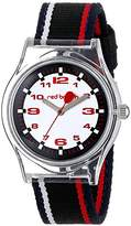 Red Balloon Kids' W001892 Tween Clear Plastic Watch with Striped Nylon Band