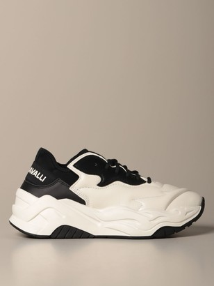 Just Cavalli Sneakers P1thon Sneakers In Leather And Neoprene