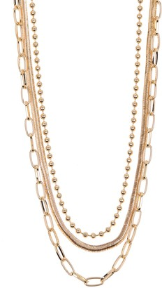 14th & Union 3 Layer Snake & Chain Necklace