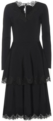 Stella McCartney Lace-trimmed jersey dress