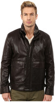 Cole Haan Spanish Grainy Cow Zip Front Jacket