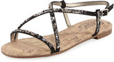 CIRCUS BY SAM EDELMAN Hilary Crystal-Embellished Slingback Sandal, Black