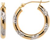 JCPenney FINE JEWELRY 10K Two-Tone Hoop Earrings
