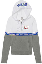 PINK University Of Kansas Bling Perfect Half Zip Hoodie