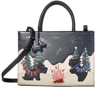Radley London Stargazing - Medium Grab Multiway (Ink) Satchel Handbags