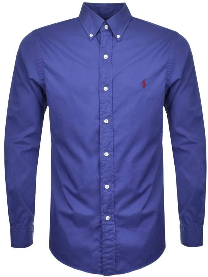 Ralph Lauren Slim Beach Twill Shirt Blue