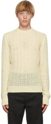 DSQUARED2 Yellow Wool Cable Knit Sweater