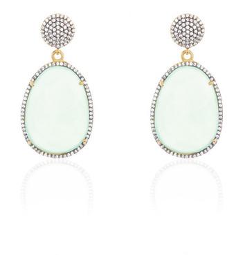 Adornia Fine Jewelry 16.00 Ct. Tw. Aqua Chalcedony Two Drop Earrings