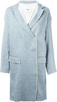 Dondup raw edge tailored coat