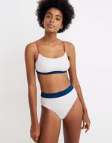 Madewell Second Wave High-Cut Bikini Bottom in Colorblock