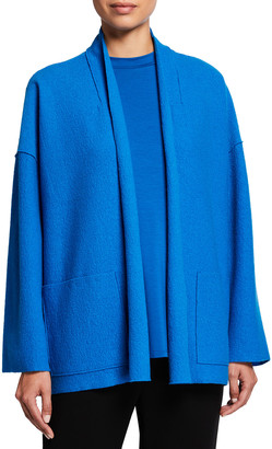 Eileen Fisher Boiled Wool High-Collar Jacket