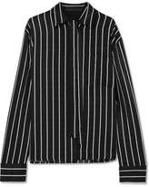 Haider Ackermann Striped Matte-satin Shirt - Black