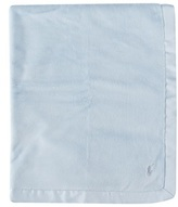 Ralph Lauren Pale Blue Velour Blanket