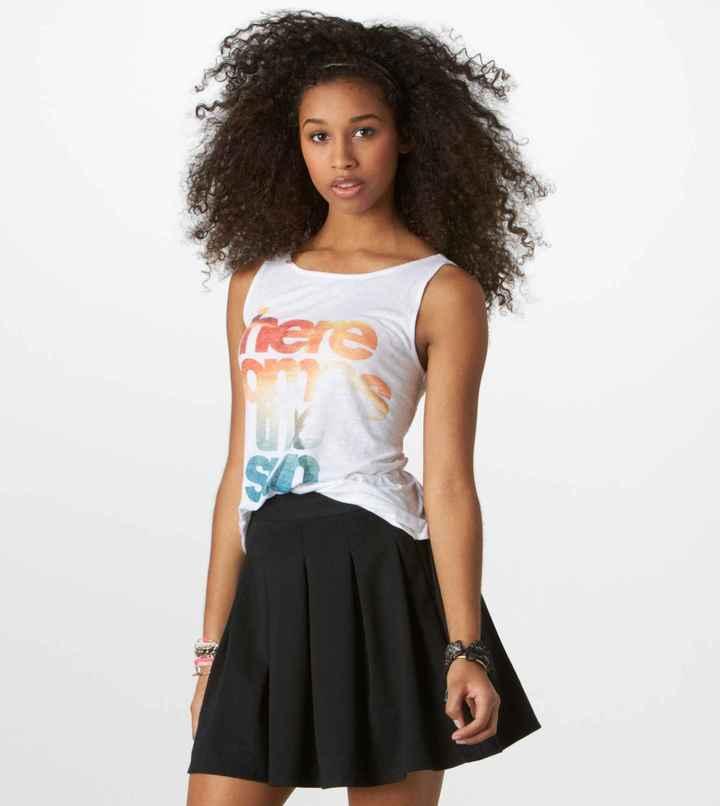 American Eagle AE Ponte Circle Skirt