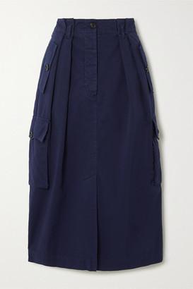 Dries Van Noten Cotton-twill Skirt - Navy
