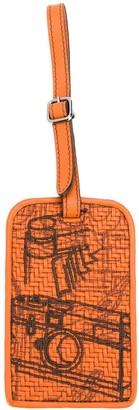 Ermenegildo Zegna PELLETESSUTA Reflex bag tag