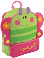 Stephen Joseph Green & Pink Butterfly Sidekicks Personalized Backpack