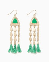 Charming charlie Raya Thread Tassel Earrings