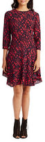 Donna Morgan Abstract-Print Three-Quarter-Sleeve Fit-and-Flare Dress