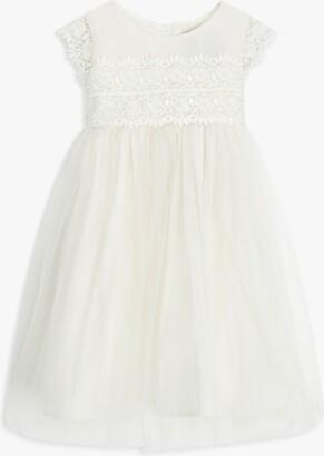 John Lewis & Partners Baby Lace Bodice Dress, Cream