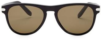 Salvatore Ferragamo Classic 55MM Round Sunglasses