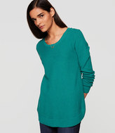 LOFT Shirttail Tunic Sweater