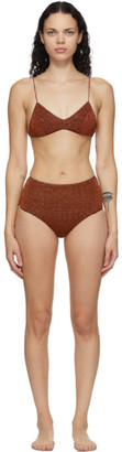 Oseree Brown High-Waisted Lumiere Bikini