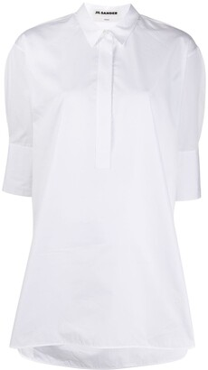 Jil Sander Loose-Fit 3/4 Sleeves Shirt