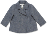 Marie Chantal Baby BoyGrey/Blue Wool Pea Coat