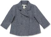 Marie Chantal Marie-Chantal Grey/Blue Wool Pea Coat