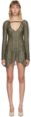 Charlotte Knowles SSENSE Exclusive Green Silk Beha Dress
