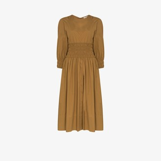 Three Graces Arianna smock waist midi dress