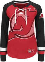 Majestic Women's New Jersey Devils Hip Check Long Sleeve T-Shirt