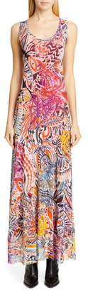 Fuzzi Mystical Print Maxi Dress