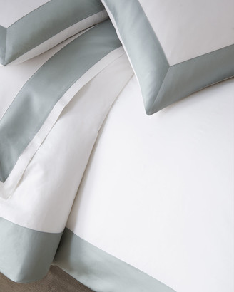 Sferra Modern Sateen Applique Twin Duvet Cover