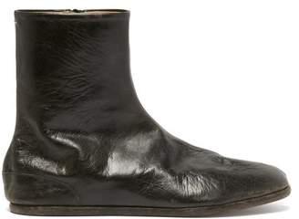 Maison Margiela Tabi Split Toe Leather Boots - Mens - Black