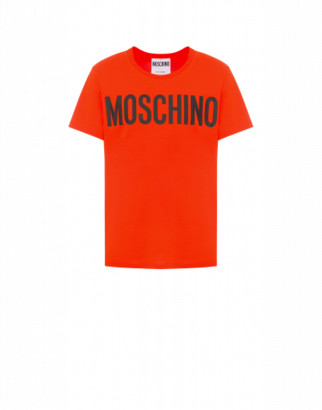 Moschino Jersey T-shirt With Logo Man Red Size 44 It - (34 Us)