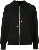 Sonia Rykiel patches sleeves zipped hoodie - women - Cotton - S