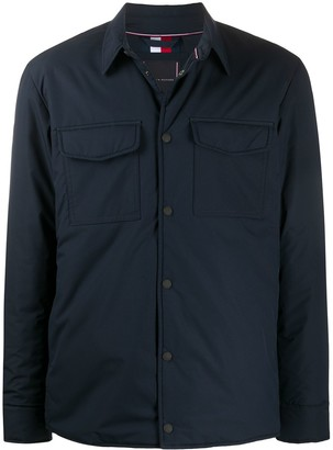 Tommy Hilfiger Padded Press-Stud Shirt Jacket