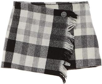 Il Gufo Asymmetric Wool-Blend Skirt