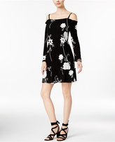 INC International Concepts Petite Floral-Print Cold-Shoulder Dress, Only at Macy's
