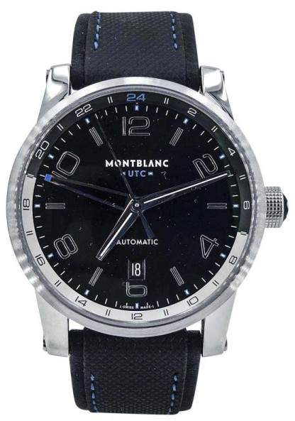 Montblanc Timewalker UTC 36065 Stainless Steel Automatic 42mm Mens Watch