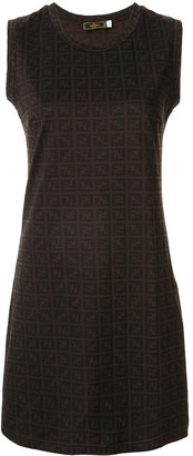 Fendi Pre Owned Monogram Printed Mini Dress