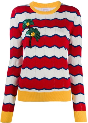 Stella Jean Striped Crew Neck Jumper