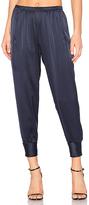 Vince Slim Satin Jogger in Navy. - size S (also in )