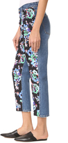 MSGM Floral Front Jeans