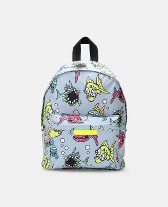 Stella Mccartney Kids Angry Fish Small Backpack, Men's
