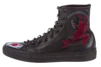 Gucci 2001 Dragon Embroidered Sneakers