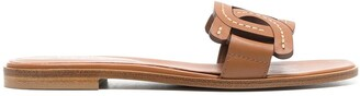 Tod's Woven Flat Sandals