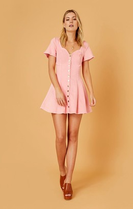 Finders Keepers ISLA MINI DRESS washed pink